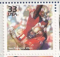 The 49ers made the Celebration of the Century - 1980s decade stamps