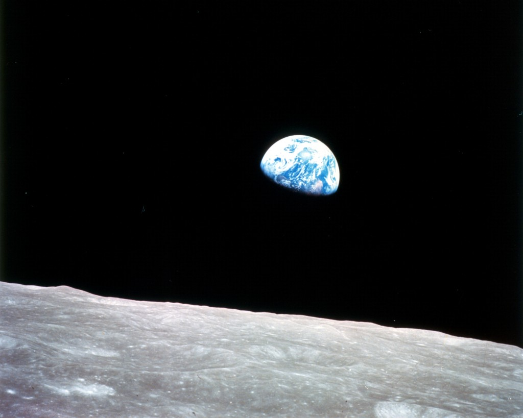 'Earthrise' first photo of Earth from space - December 1968 courtesy of NASA