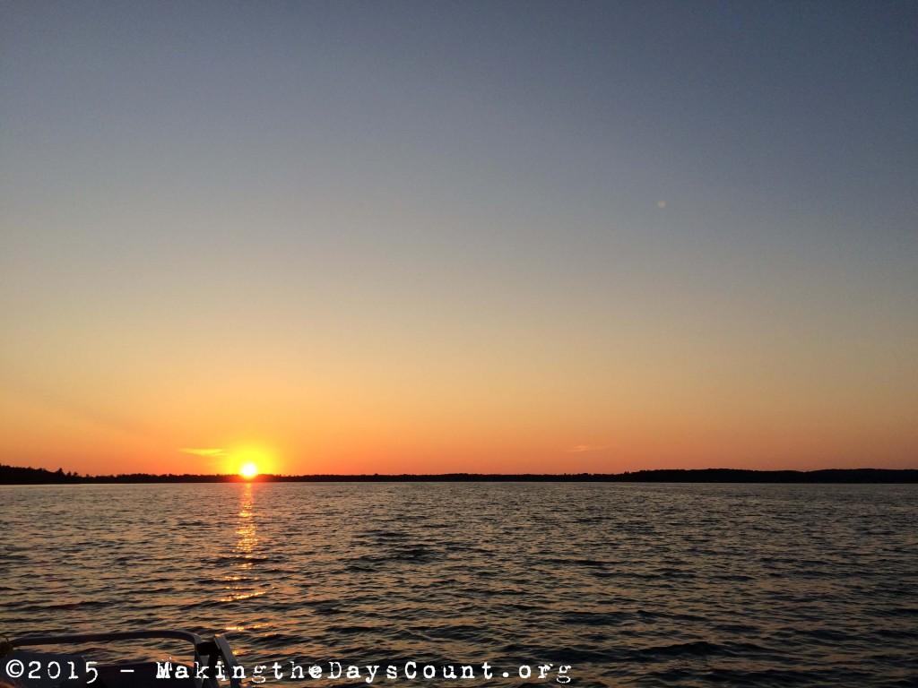 sunset Lake Margrethe - Monday, July 26